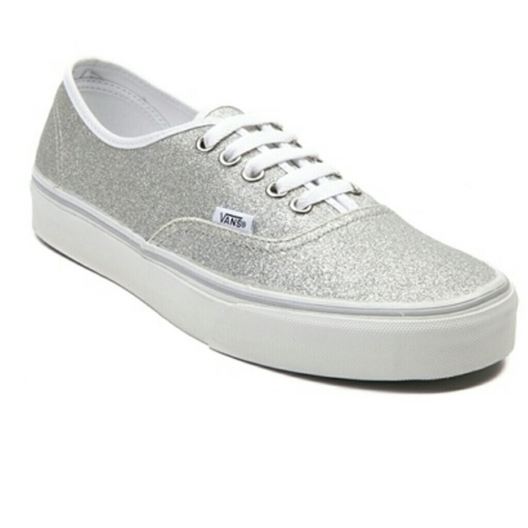 c5fa7ac7ada3 Vans Shoes | Womens Silver Glitter Skate Shoe Size 8 | Poshmark